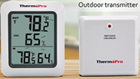 ThermoPro P60 remote temperature monitor - ideal for use with our attic and solar heat harvester